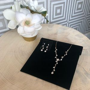 Jewelry - Crystal Vine and Flower Necklace and Earring Set